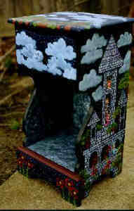hand painted furniture - painted nightstand