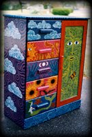 nature spirits painted armoire