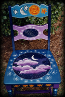 Night Skies theme for painted chairs