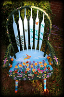 Wildflowers theme for hand painted chairs