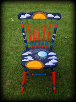 Dreamer's Moon theme for hand painted chairs