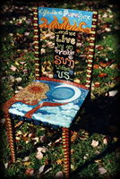Life Quote theme for hand painted chairs