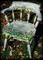 Who Loves a Garden theme for hand painted chairs