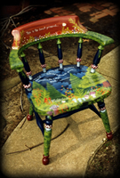 Forest Primeval theme for hand painted chairs