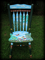 Woodland Meadow theme for hand painted chairs