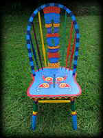 Whimsical Butterfly theme for hand painted chairs