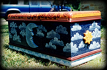 celestial signs theme hand painted chest