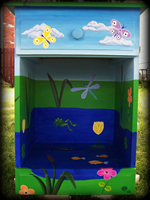 Happy Frog Pond theme for painted children's furniture
