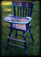 Mermaids theme for painted children's furniture