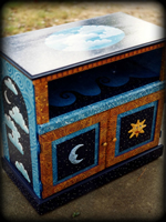 Celestial Signs theme for painted dressers