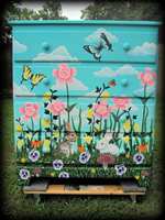 Floral Meadow theme for painted dressers