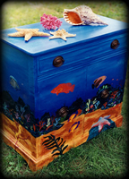 Tropical Reef theme for painted dressers