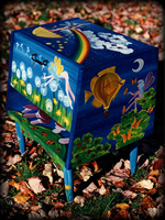 Faerie Garden theme for painted nightstands