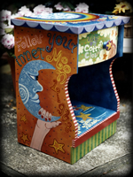 Rainbow Wish theme for painted nightstands