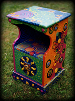 Enchanted Visions theme for painted nightstands