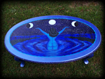 Drawing the Moon theme for hand painted tables
