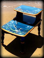 Mermaids Garden theme for hand painted tables