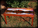 Mountain Majesty theme for hand painted tables