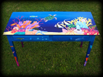 Tropical Reef theme for hand painted tables