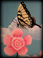 butterfly garden theme for painted furniture