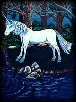 Unicorns theme for hand painted furniture