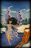 Faeries theme for hand painted furniture