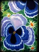 Pansies theme for painted furniture