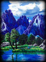 Mountain Majesty theme for hand painted furniture