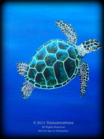 Sea Turtles theme for hand painted furniture