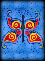 Whimsical Butterfly theme for hand painted furniture