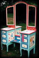 vintage hand painted furniture